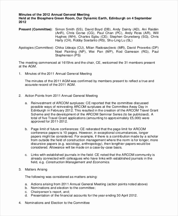 Template for Corporate Minutes Unique How to Write Corporate Annual Minutes Awesomethesis X