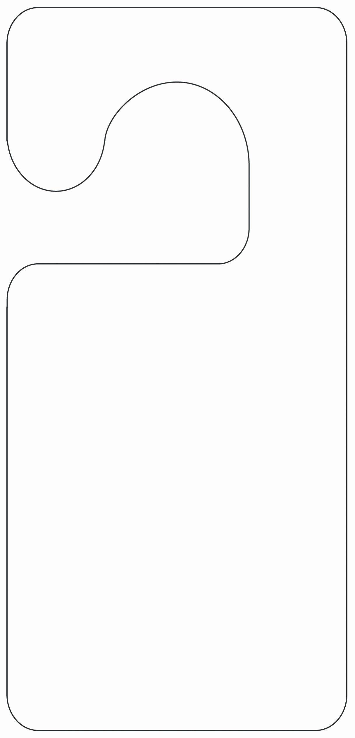 Template for Door Hanger Elegant Printable Door Hanger Template