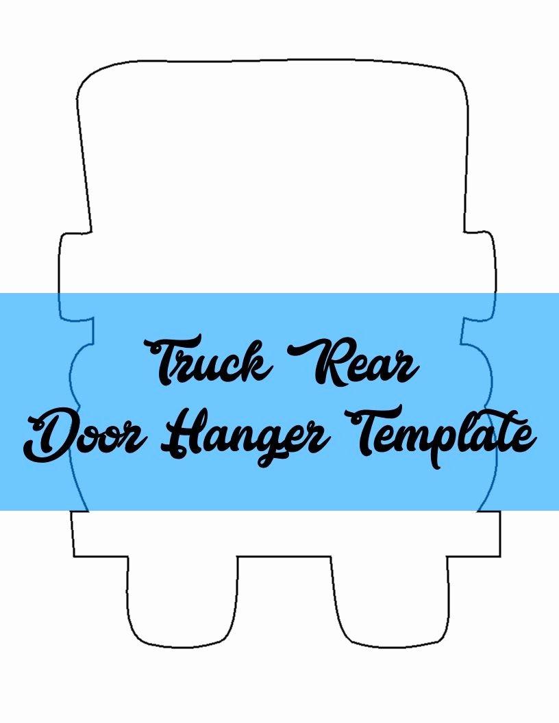 Template for Door Hanger Fresh Truck Rear Door Hanger & Wreath attachment Template