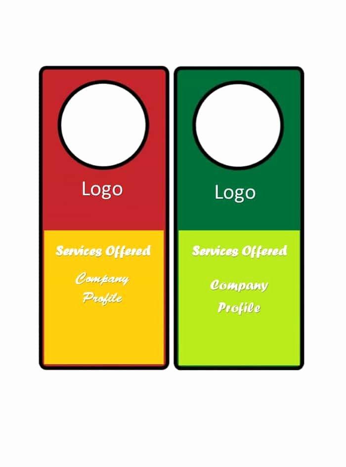 Template for Door Hanger Luxury 43 Free Door Hanger Templates Word Pdf Template Lab