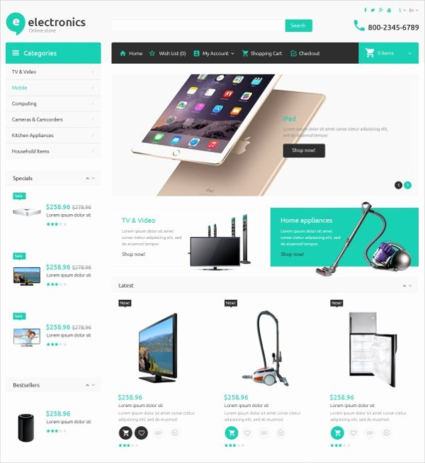 Template for Ecommerce Website Awesome 19 E Merce Bootstrap themes & Templates