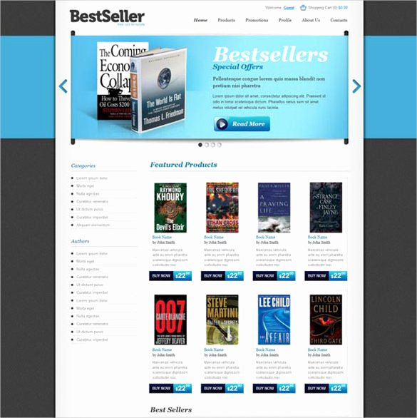 Template for Ecommerce Website Awesome 30 Book Store Website themes & Templates