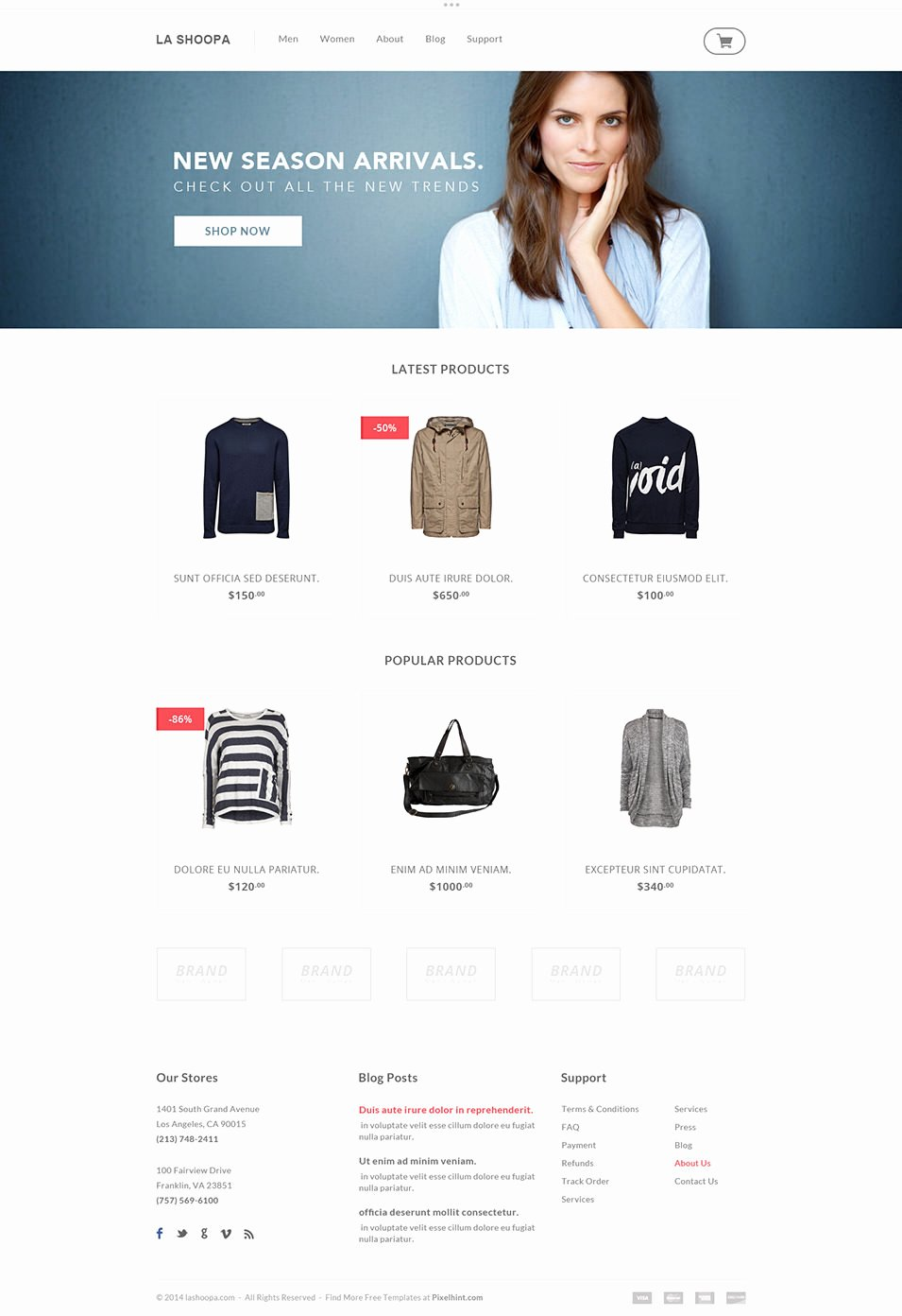 Template for Ecommerce Website Awesome 60 Free Psd Website Templates