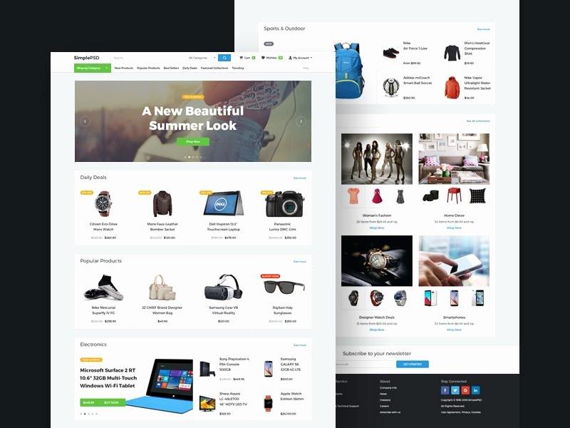 Template for Ecommerce Website Best Of 20 Elegant & Free E Merce Psd Website Templates