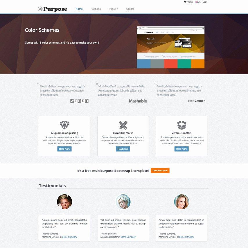 Template for Ecommerce Website Best Of Mpurpose Free Responsive E Merce Website Template