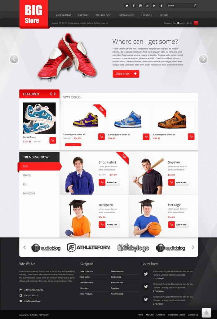 Template for Ecommerce Website Elegant Free E Merce Website Templates