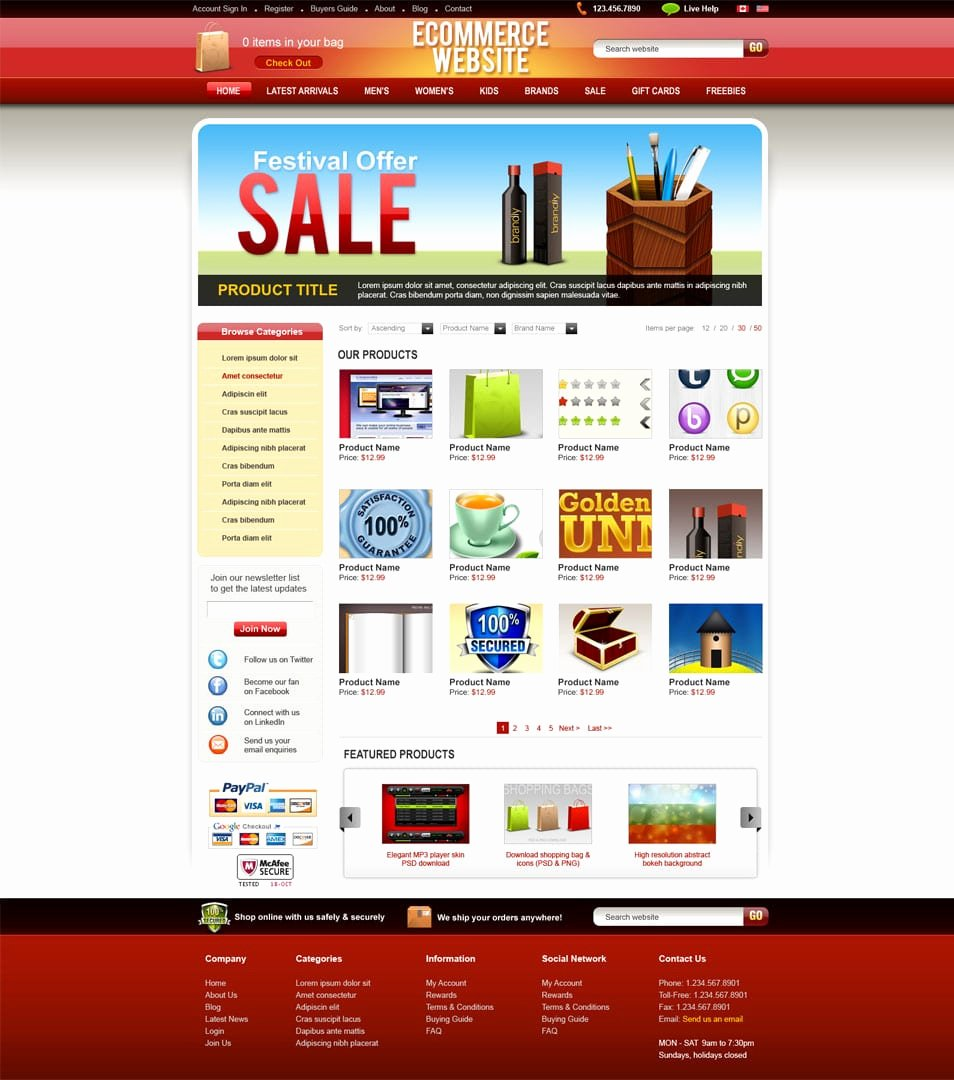 Template for Ecommerce Website Fresh Latest Free Web Page Templates Psd Css Author