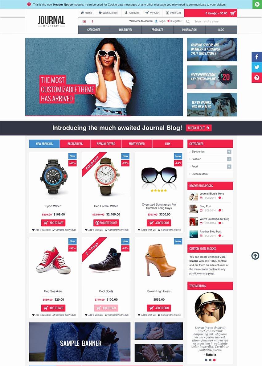 Template for Ecommerce Website Inspirational 15 Best E Merce Website Templates Trending In 2016