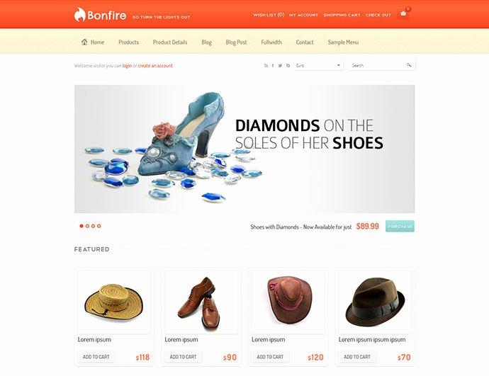 Template for Ecommerce Website Lovely 40 Best E Merce Website Templates