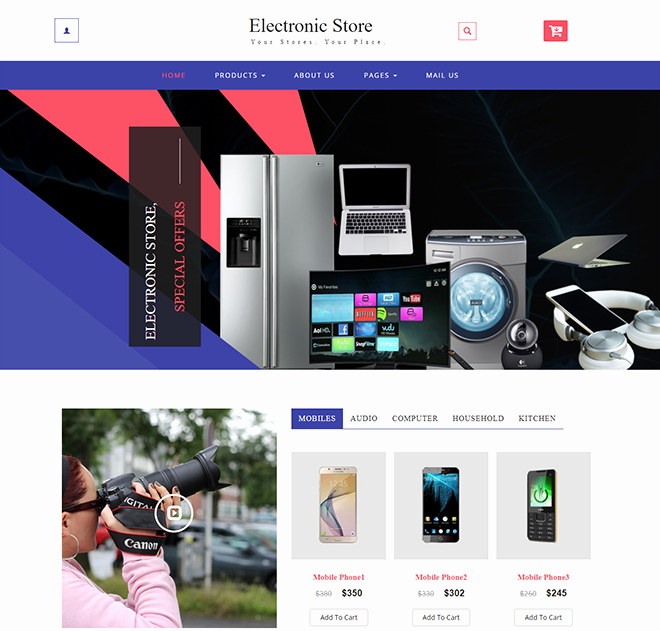 Template for Ecommerce Website Lovely Download Free HTML E Merce Templates for Line Shopping