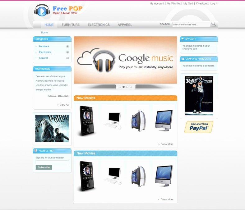 Template for Ecommerce Website Lovely Free E Merce Website Templates
