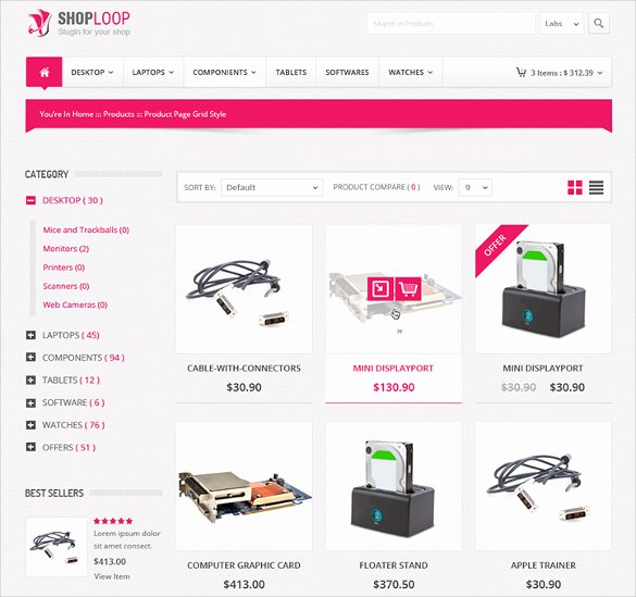 Template for Ecommerce Website Luxury 34 HTML5 E Merce themes & Templates