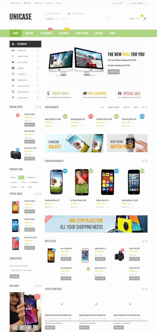 Template for Ecommerce Website Luxury 50 Best E Merce Website Templates Free & Premium