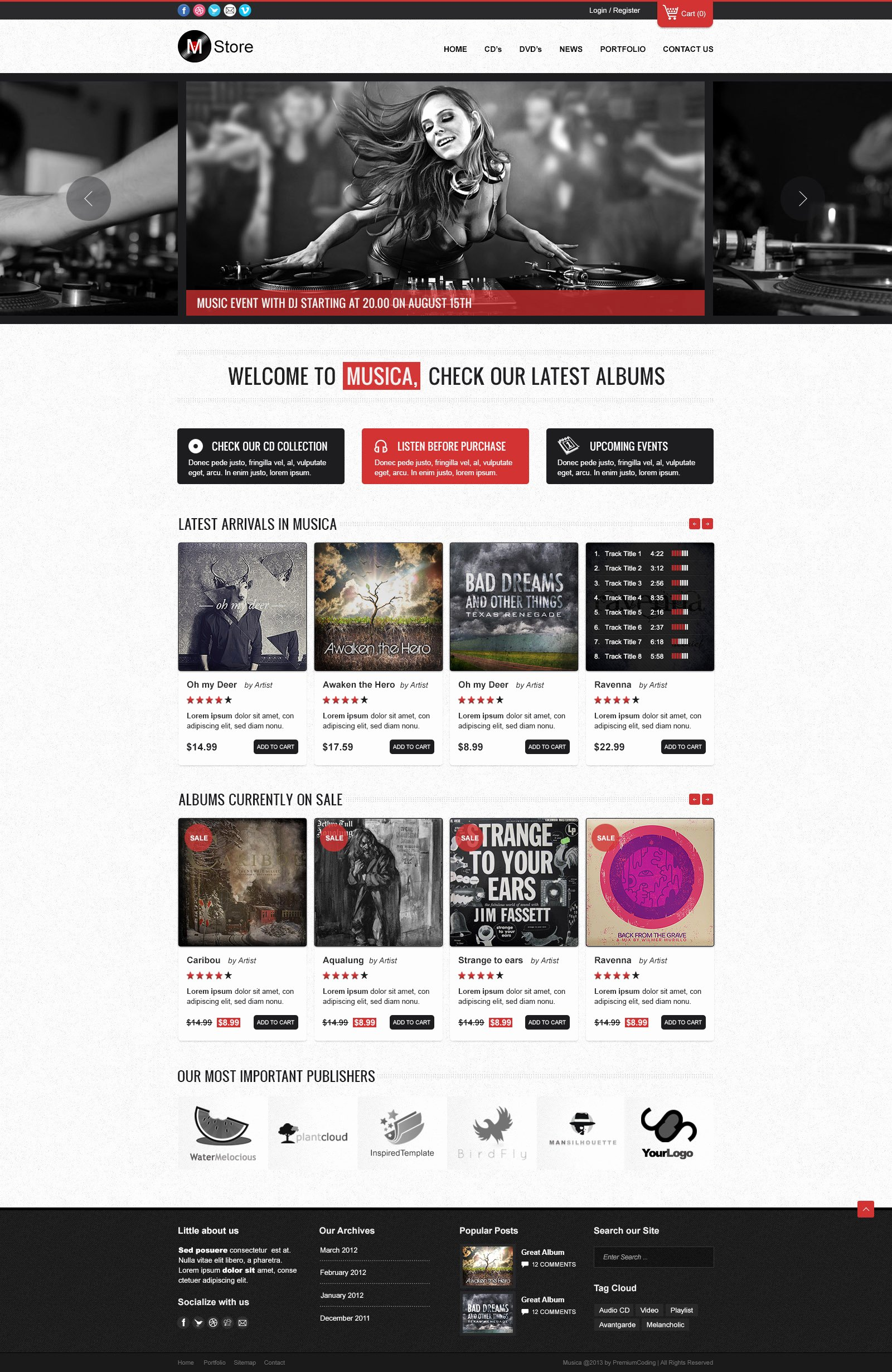 Template for Ecommerce Website New Freebie Musica E Merce Website Template Psd
