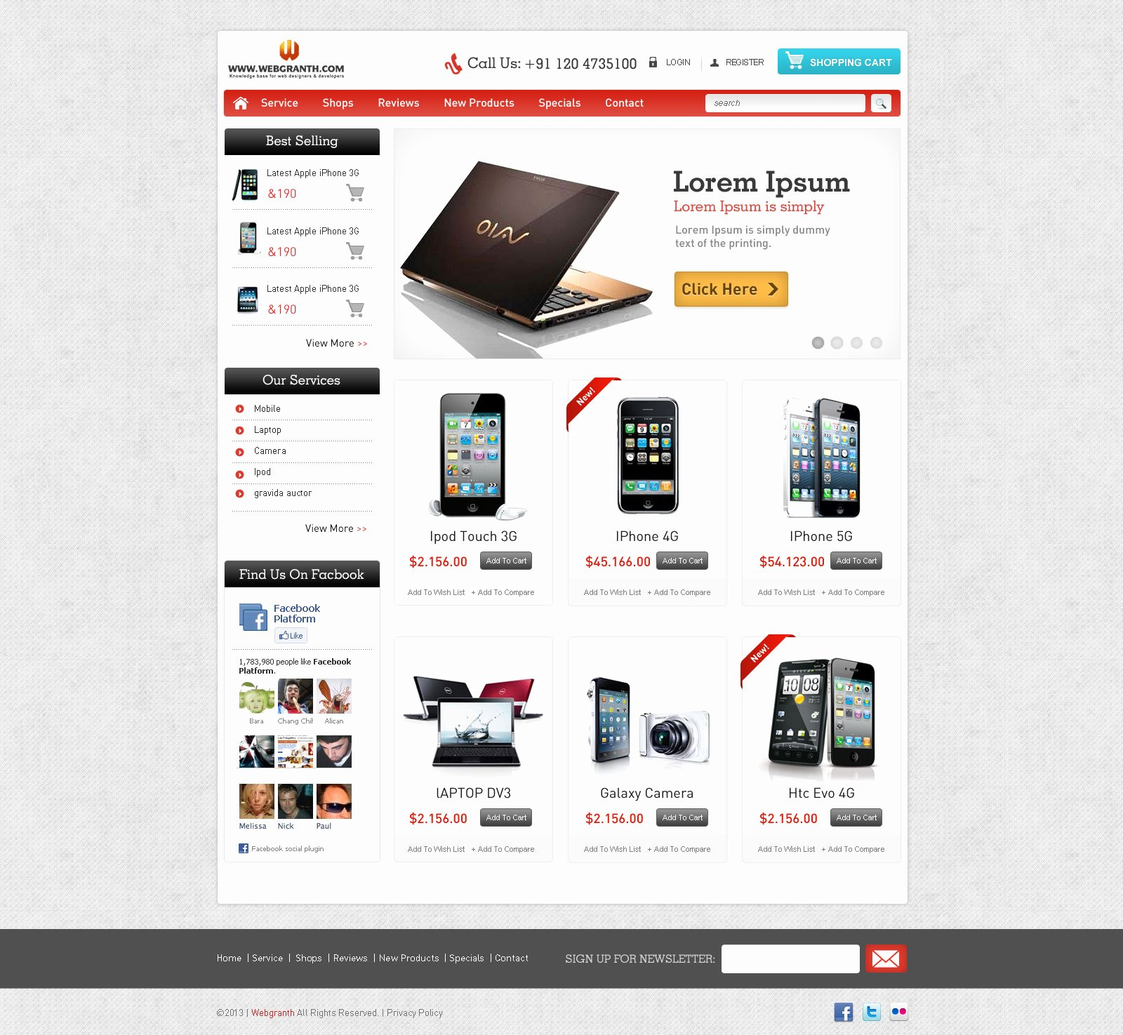 Template for Ecommerce Website Unique Free HTML Website Template