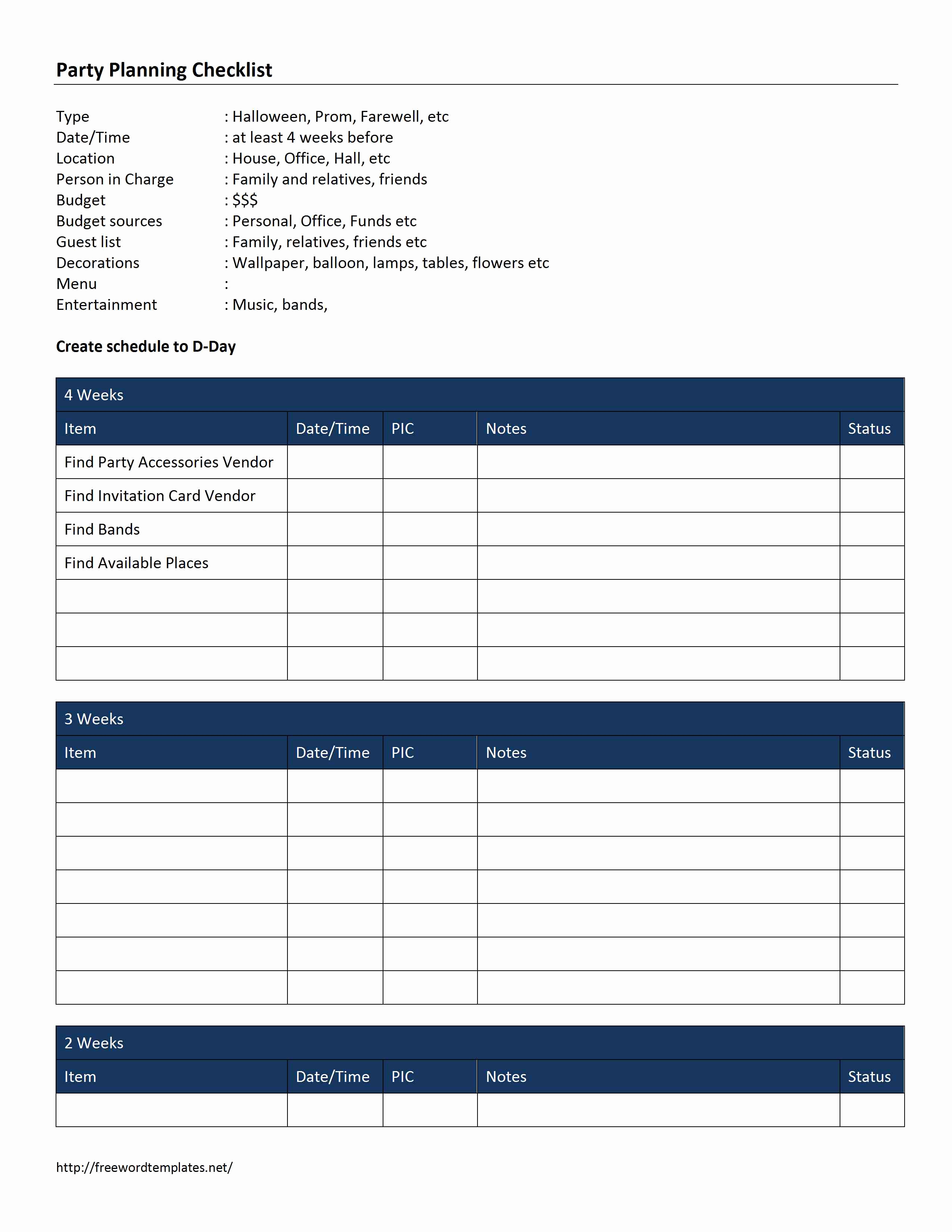 Template for event Planning Awesome Checklist Word Templates Free Word Templates