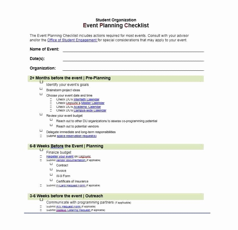 Template for event Planning Beautiful 50 Professional event Planning Checklist Templates