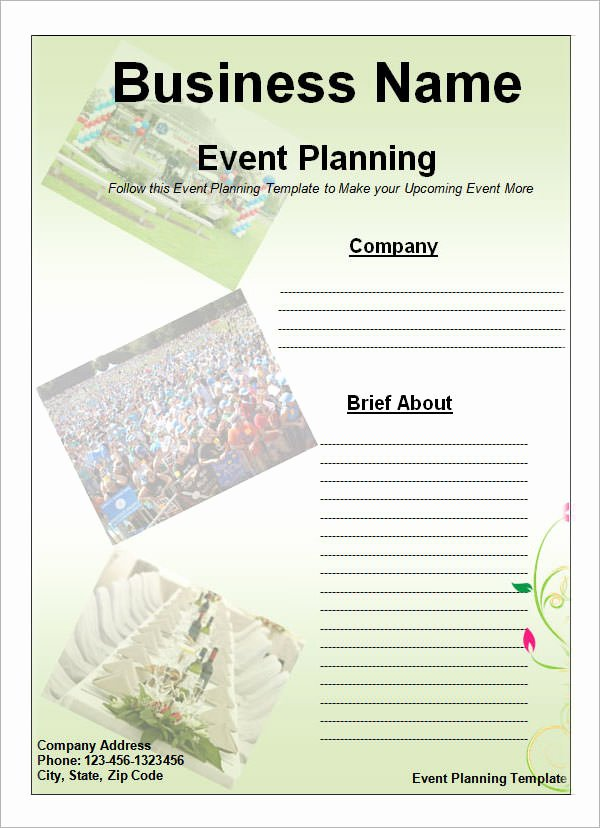 Template for event Planning Fresh event Planning Template 11 Free Documents In Word Pdf Ppt