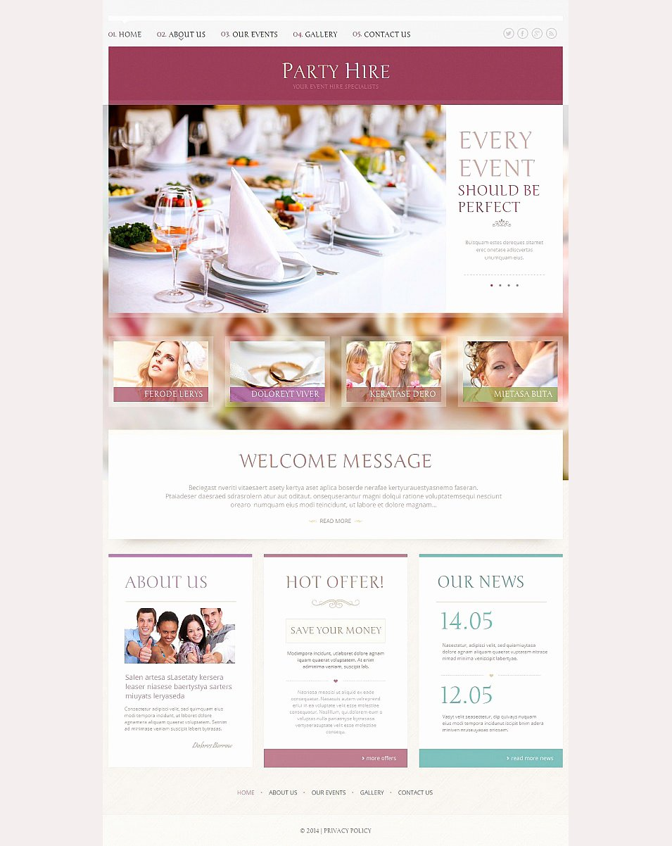 Template for event Planning Luxury 33 event Planning Website themes & Templates