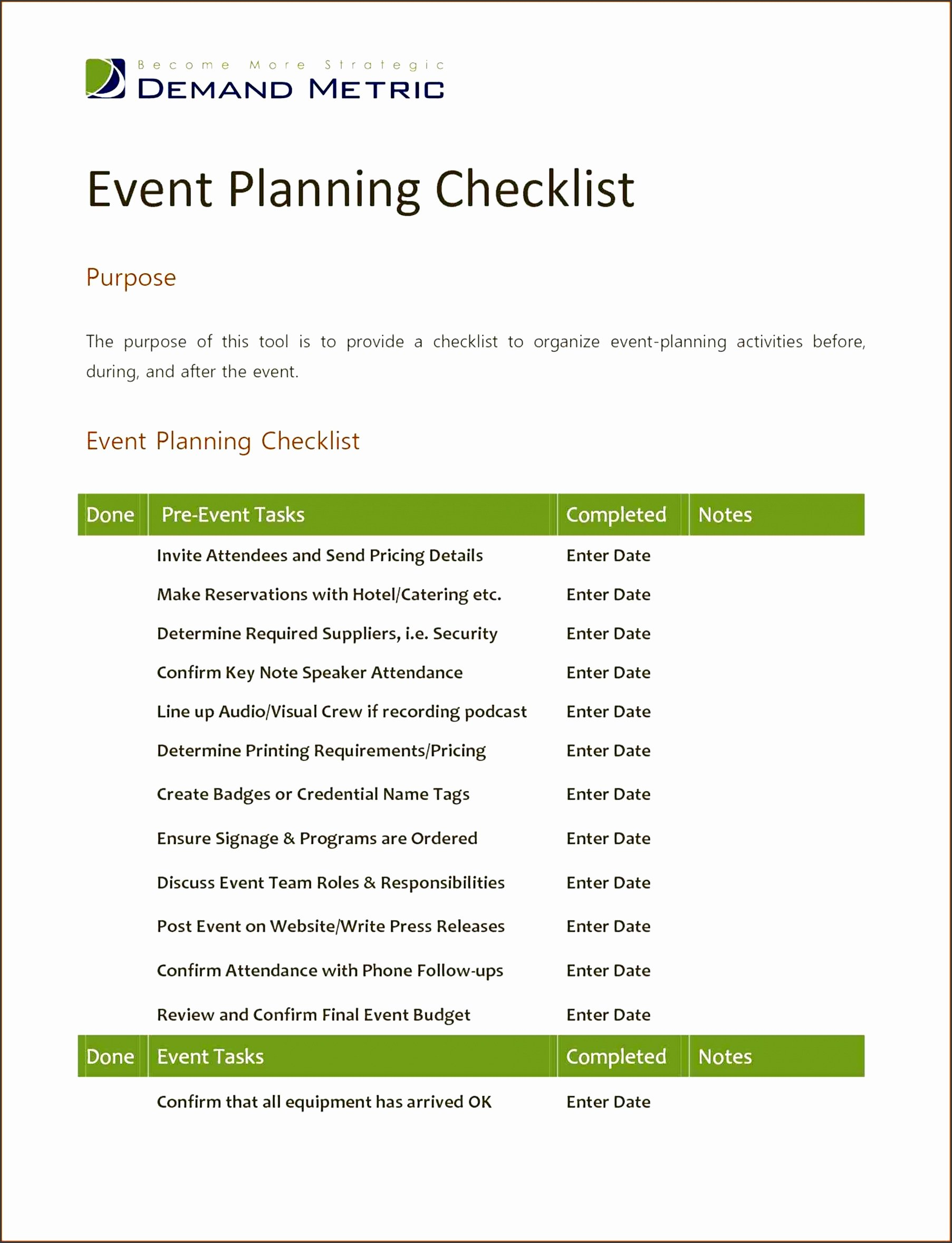 Template for event Planning Luxury 7 Church event Planning Checklist Template