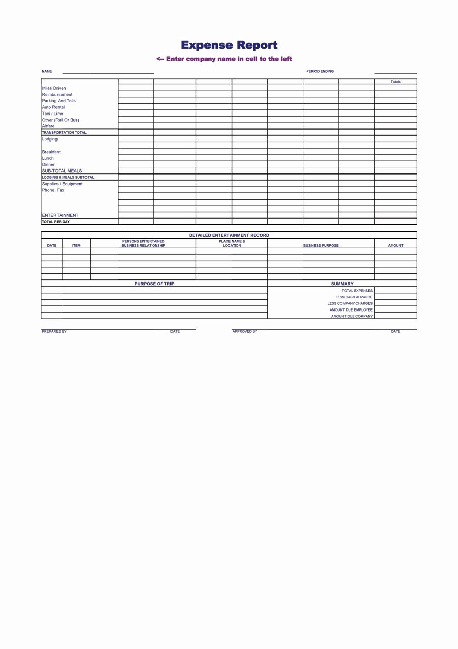 Template for Expense Report Inspirational 40 Expense Report Templates to Help You Save Money