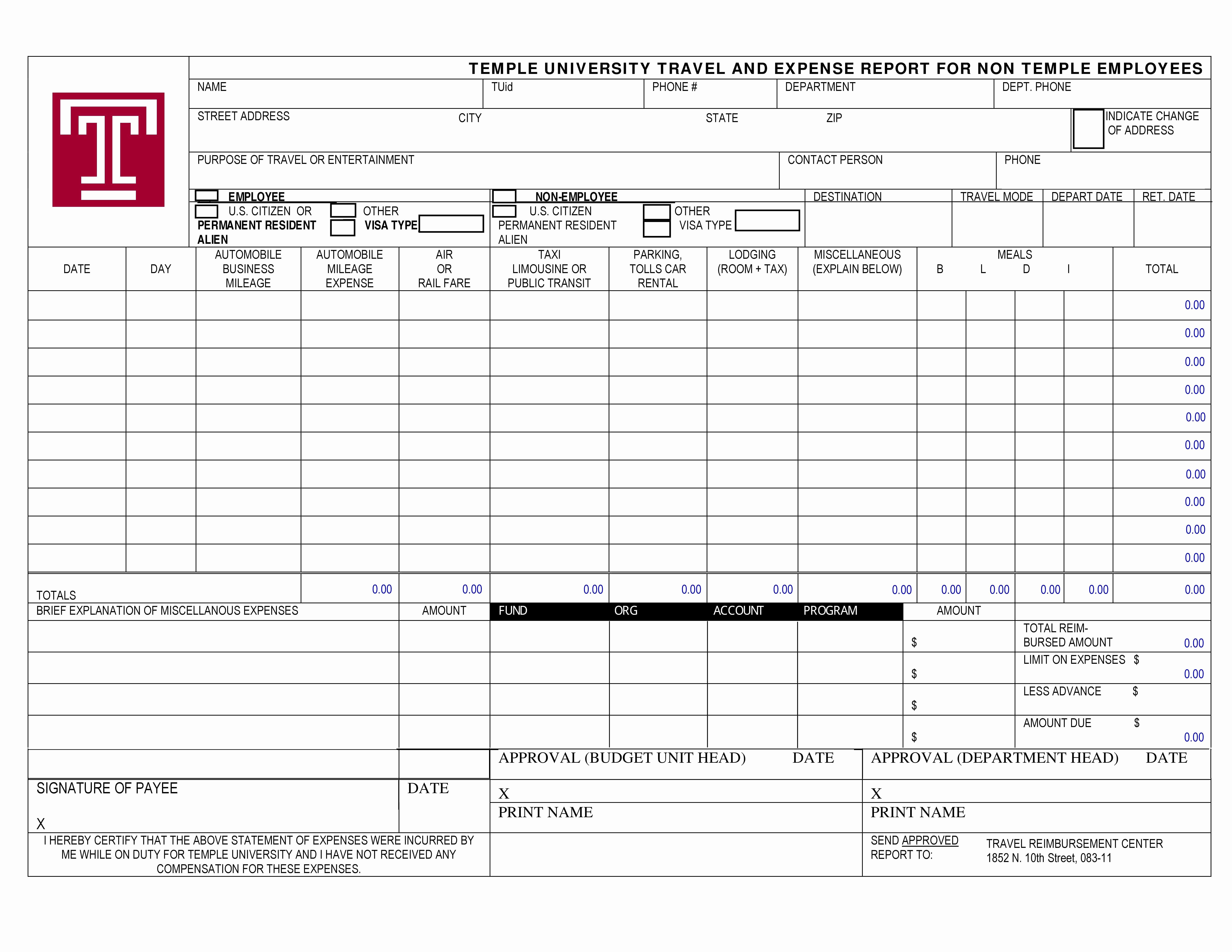 Template for Expense Report Luxury 40 Expense Report Templates to Help You Save Money
