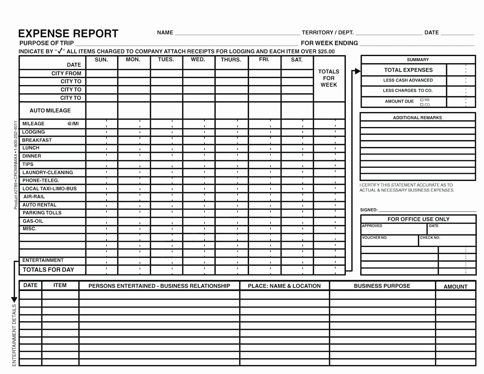 Template for Expense Report Luxury Per Diem Expense Report Template