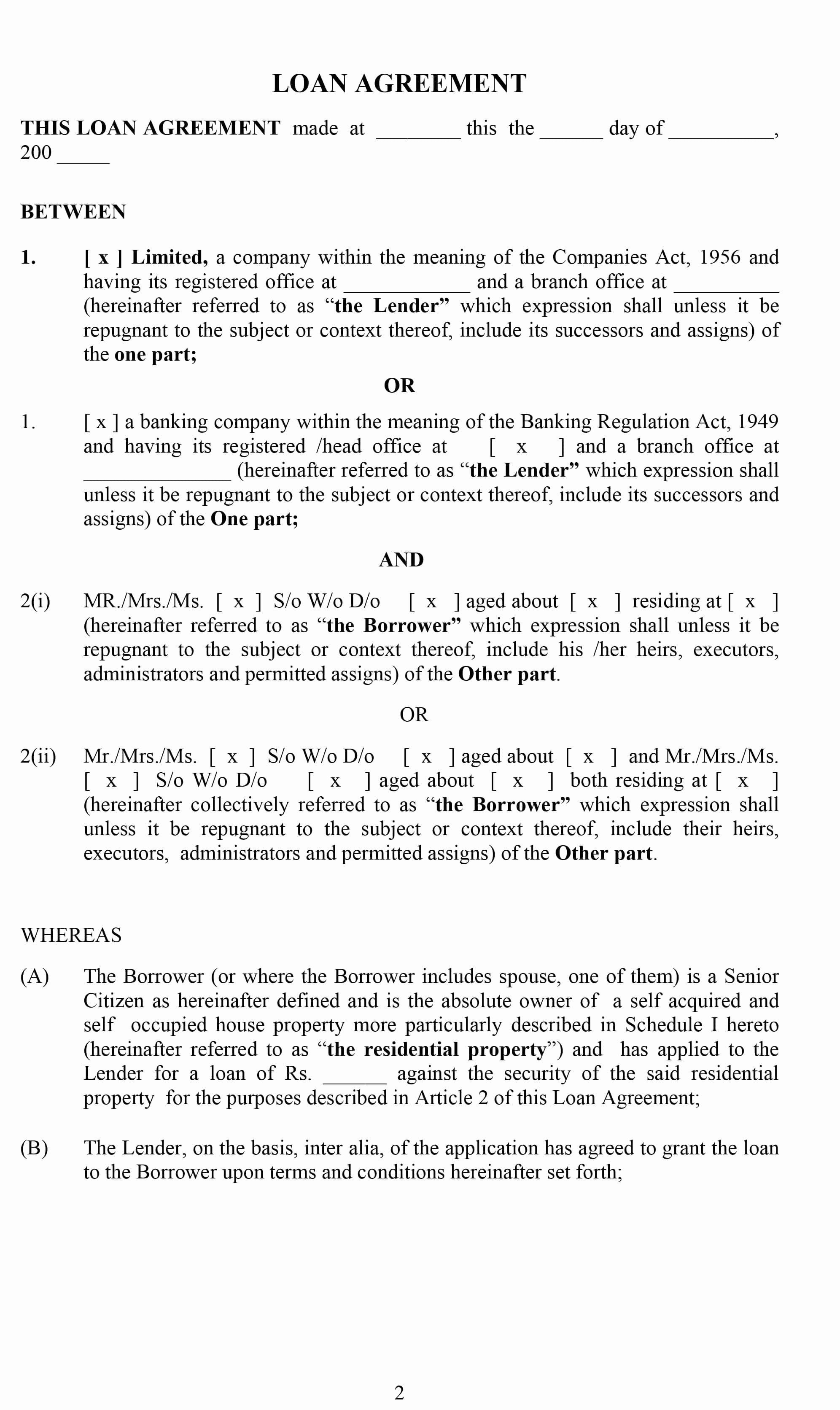 Template for Loan Contract Best Of 40 Free Loan Agreement Templates [word & Pdf] Template Lab
