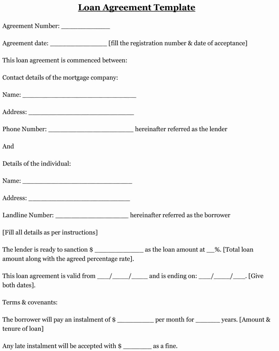 Template for Loan Contract New 40 Free Loan Agreement Templates [word & Pdf] Template Lab