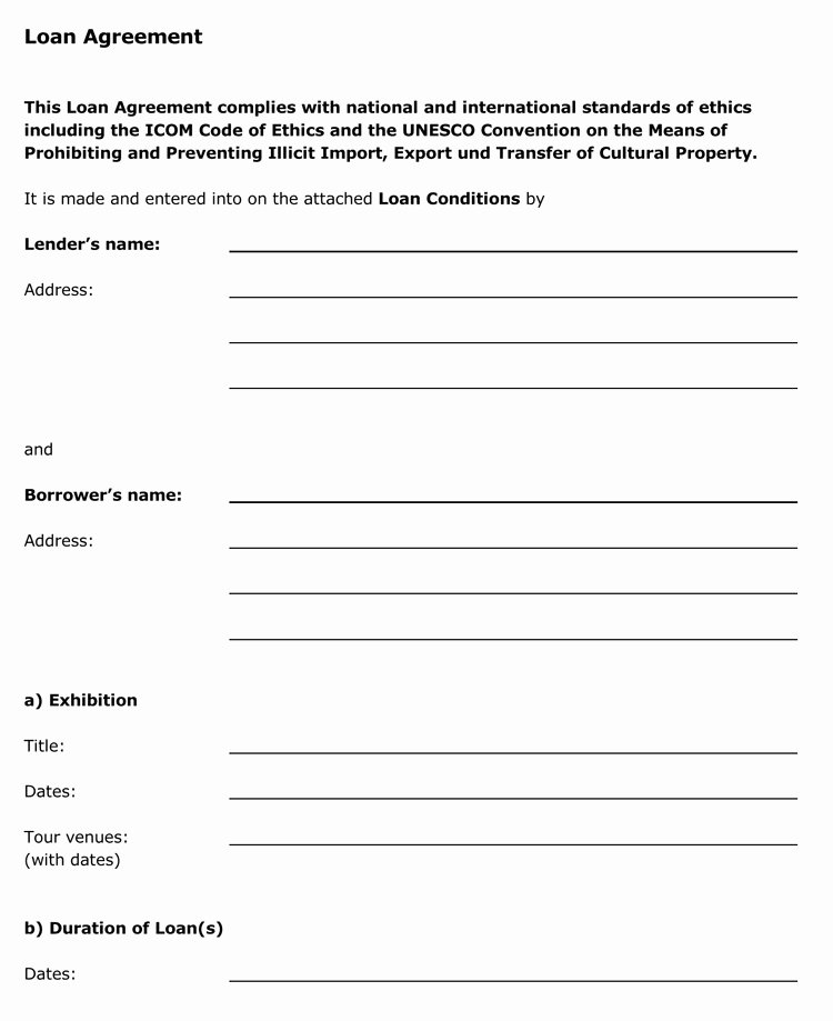 Template for Personal Loan Agreement Awesome 45 Loan Agreement Templates & Samples Write Perfect