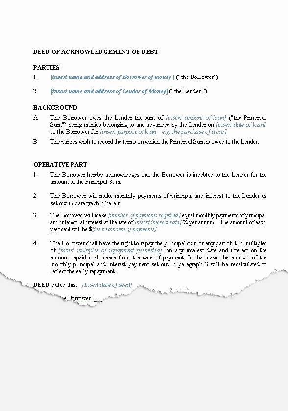 Template for Personal Loan Agreement Beautiful Personal – Loan Agreements