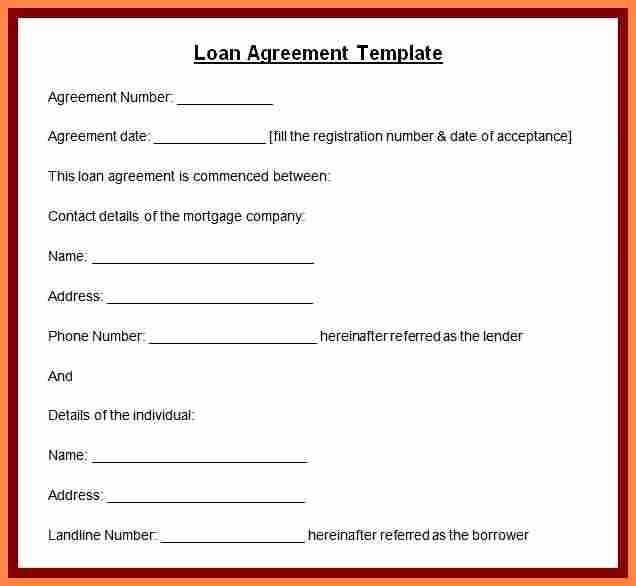 Template for Personal Loan Agreement Best Of 8 Personal Loan Agreement Template Microsoft Word