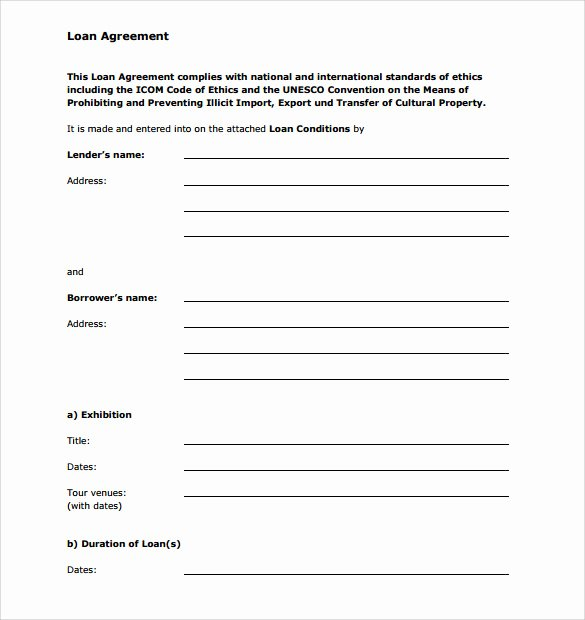 Template for Personal Loan Agreement Inspirational 7 Personal Loan Agreement forms