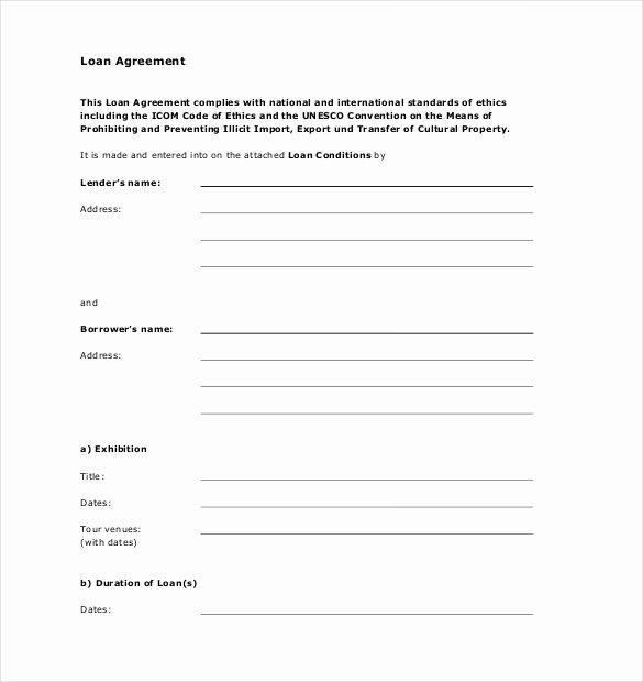 Template for Personal Loan Agreement Lovely Simple Loan