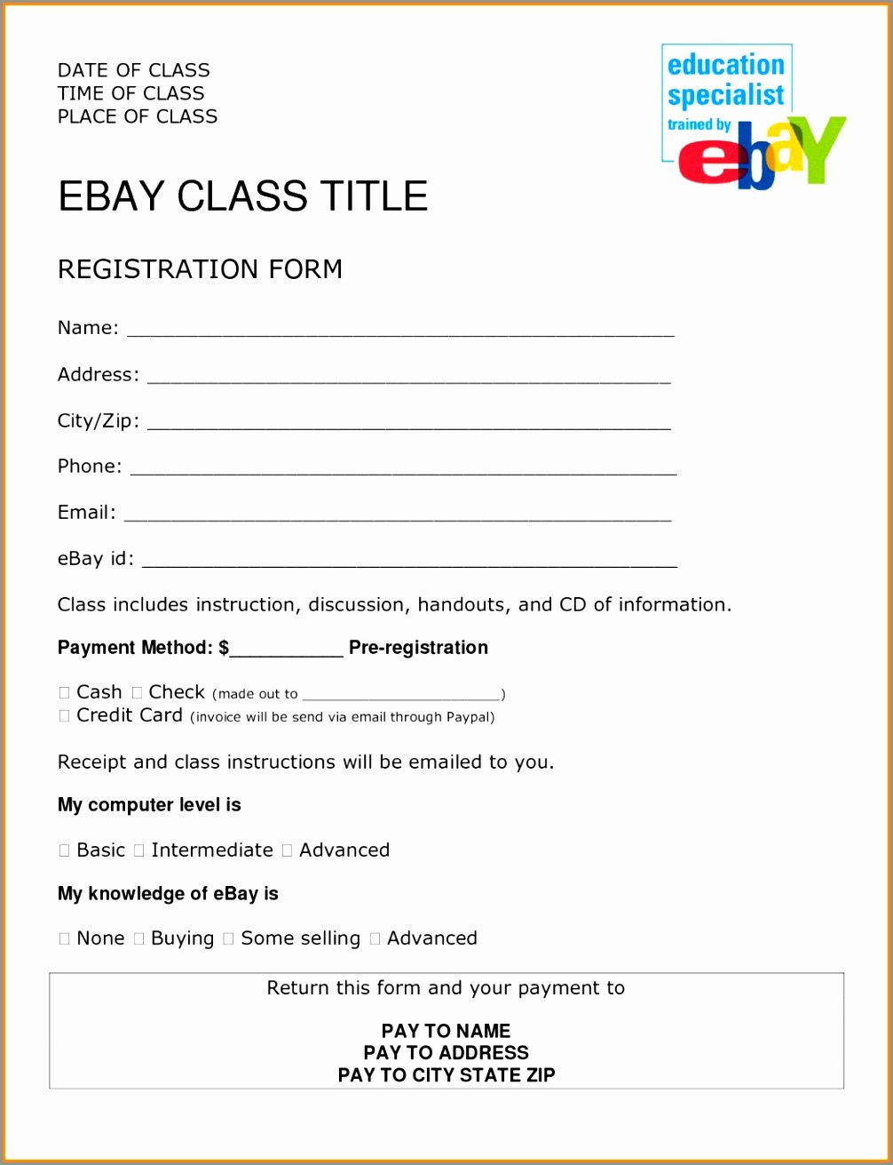 Template for Registration form Beautiful 10 Sport Registration form Template Taryi