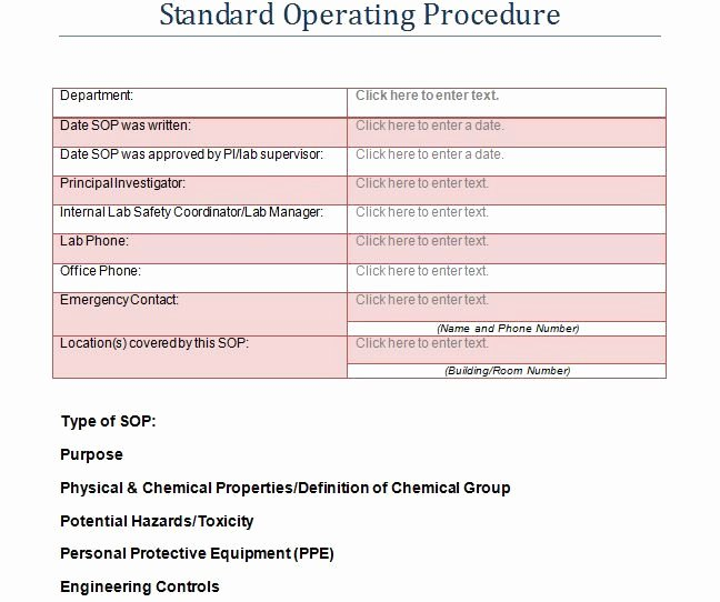 Template for Standard Operating Procedures Elegant Best 25 Standard Operating Procedure Template Ideas On