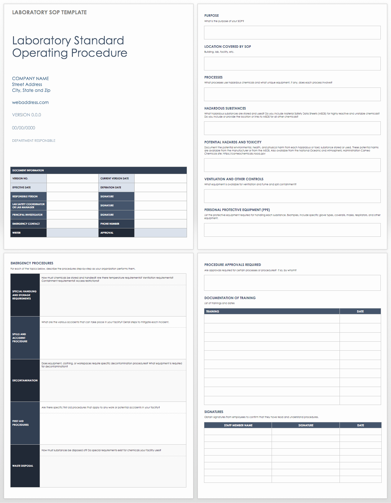 Template for Standard Operating Procedures Lovely Standard Operating Procedures Templates