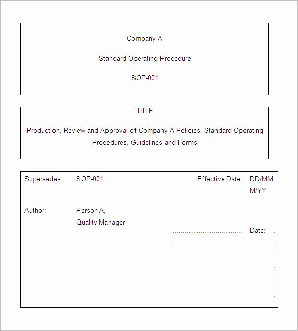 Template for Standard Operating Procedures Luxury 13 Standard Operating Procedure Templates Pdf Doc
