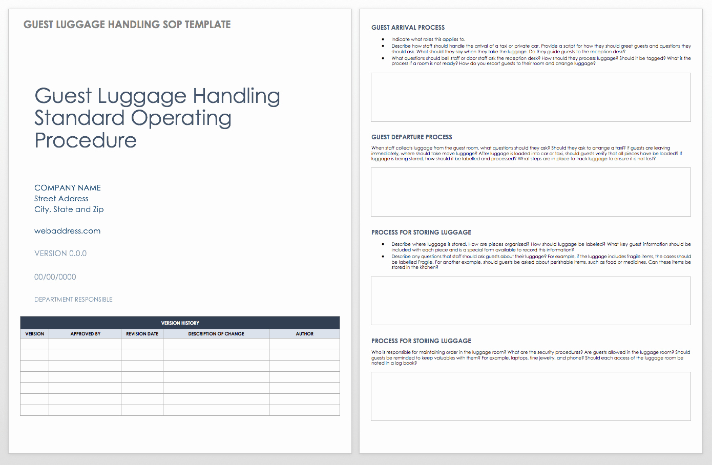Template for Standard Operating Procedures Luxury Standard Operating Procedures Templates