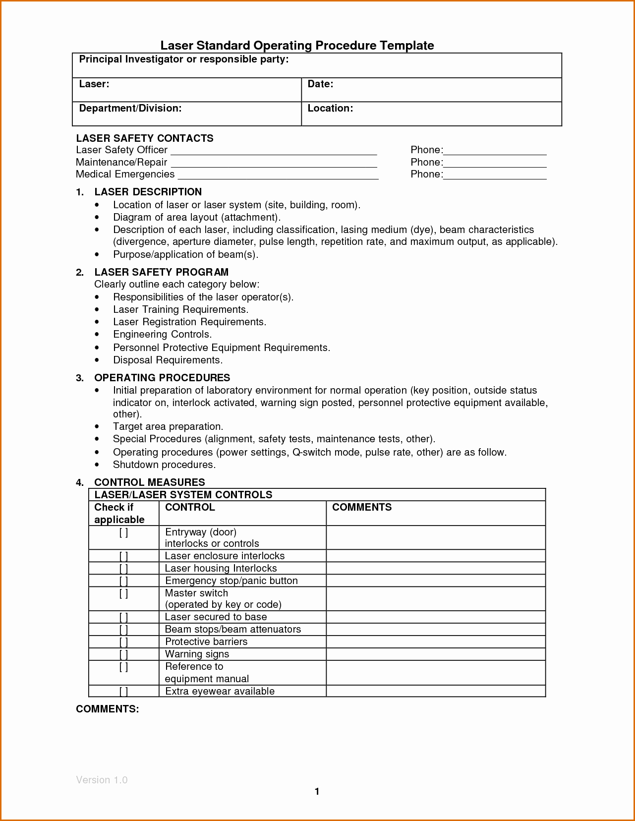 Template for Standard Operating Procedures Unique 14 Standard Operating Procedures Templates