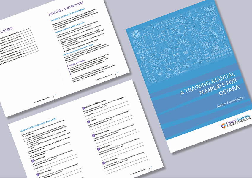 Template for Training Manual Elegant Cordestra Portfolio