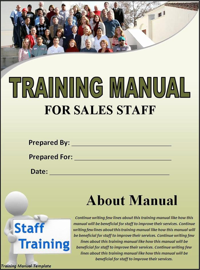 Template for Training Manual Fresh 5 Free Training Manual Templates Excel Pdf formats