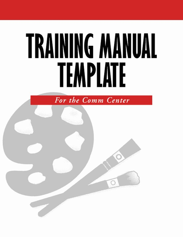 Template for Training Manual Lovely Create A 911 Training Manual Template