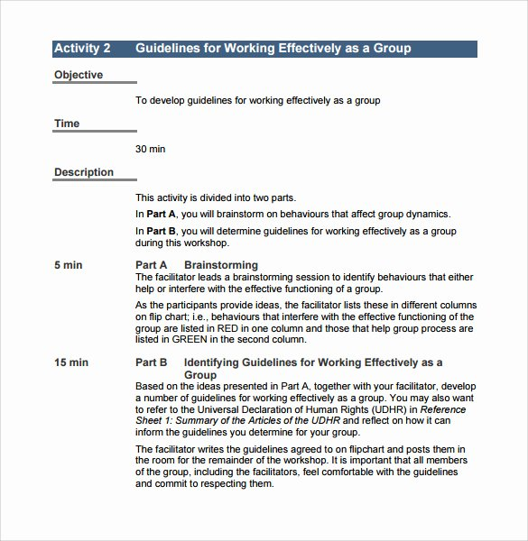 Template for Training Manual Luxury 11 Training Manual Samples – Pdf