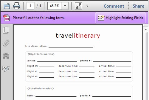 Template for Travel Itinerary Lovely 4 Travel Itinerary Templates Excel Xlts
