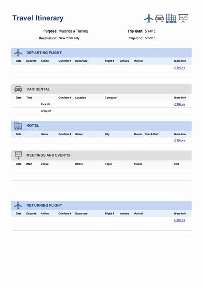 Template for Travel Itinerary Unique Travel Itinerary Template Free Download Create Edit