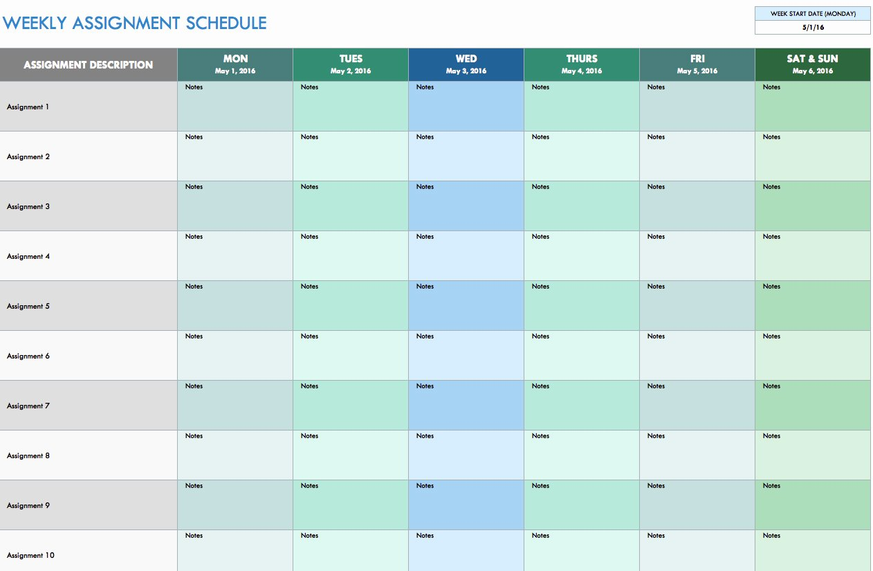 Template for Weekly Schedule Beautiful Free Weekly Schedule Templates for Excel Smartsheet