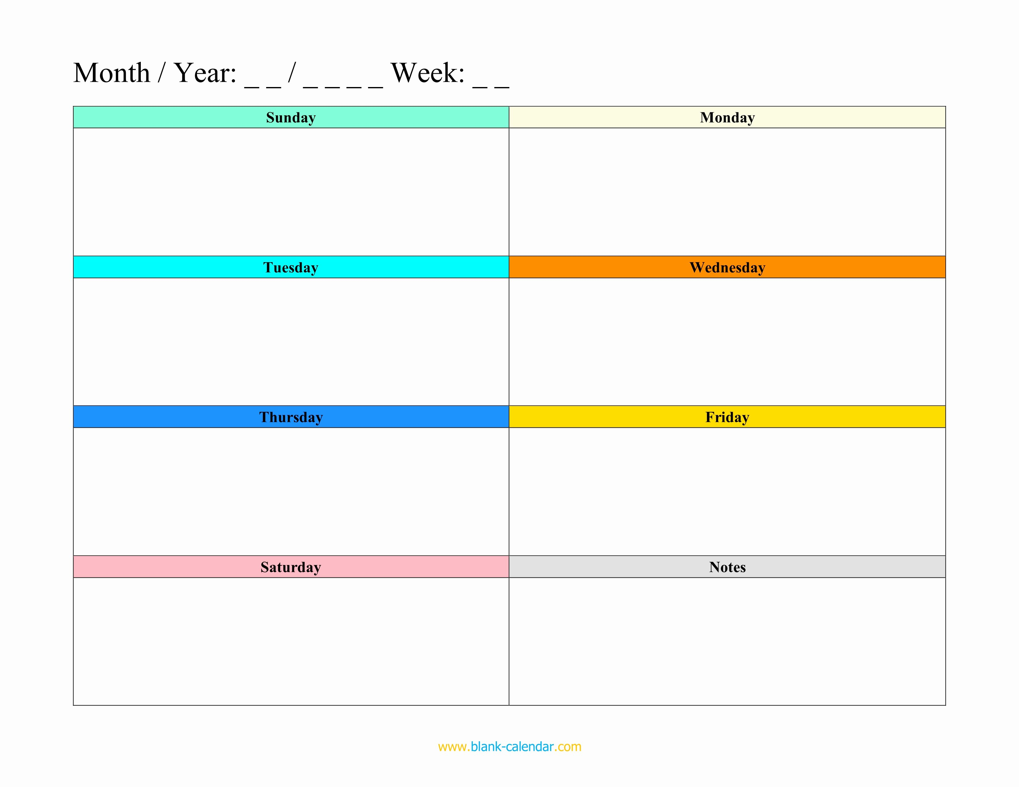 Template for Weekly Schedule Best Of Weekly Schedule Planner Templates Word Excel Pdf