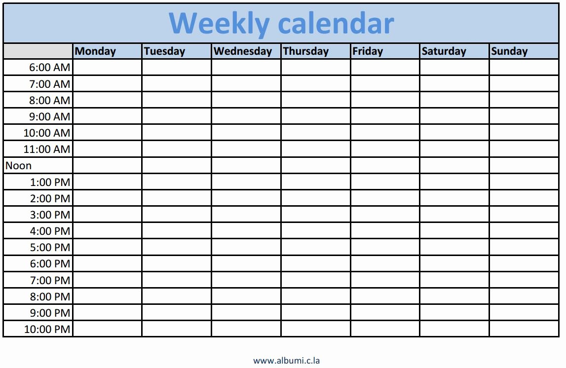 Template for Weekly Schedule Luxury Weekly Schedule Template for Your Inspirations Vatansun