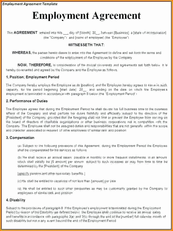 Temporary Employment Contract Template Elegant Temporary Employment Contract